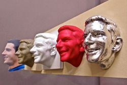 The process of creating Alexander Rossi's image for the Borg-Warner Trophy begins with photos and st