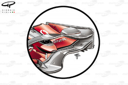 McLaren MP4-23 2008 front wing detail