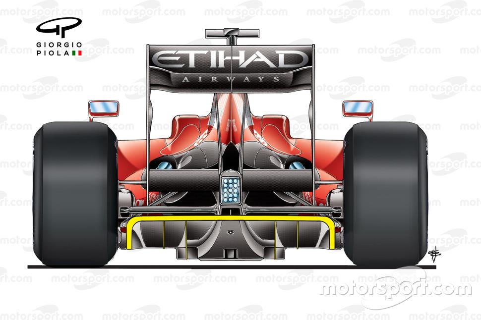 Vista trasera del Ferrari F60 (660) 2009
