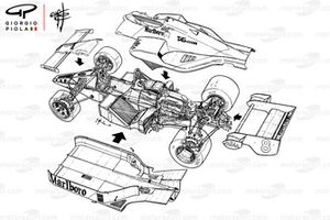 McLaren MP4-2 1984 vista general detallada