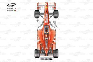 Ferrari F2003-GA, vista daal'alto e nuovi bargeboards