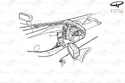 Détails du cockpit de la Ferrari F2001