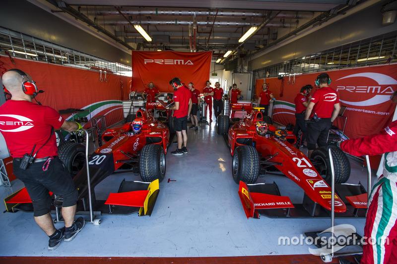 Antonio Fuoco, PREMA Racing y Charles Leclerc, PREMA Racing