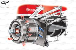 Ferrari F138 front brakes, captioned
