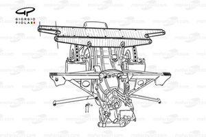 McLaren M23 1974 rear-end assembly