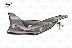 T-tray de la McLaren MP4-16