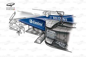 Williams FW23 2001 sidepod detail