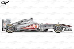 McLaren MP4/26 side view, German GP
