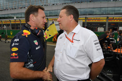 Christian Horner, Red Bull Racing Takım Patronu ve Zak Brown, McLaren CEO
