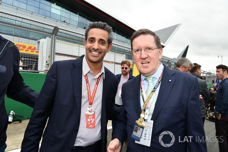 Керівник Bahrain International Circuit Шейх Сальман бін Іса Аль-Халіфа, Лорд Робертсон