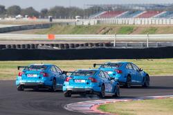 Nicky Catsburg, Thed Björk, Nestor Girolami, Polestar Cyan Racing, Volvo S60 Polestar tijdens MAC3 q