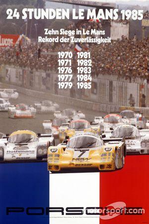 Poster Porsche 24h de Le Mans 1985