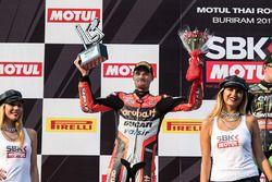 Podium: second place Chaz Davies, Ducati Team