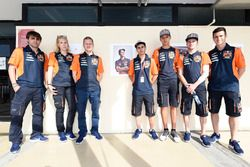 Darryn Binder, Platinum Bay Real Estate, Bo Bendsneyder, Red Bull KTM Ajo, Aki Ajo, Antonelli looking at the Luis Salom tribute