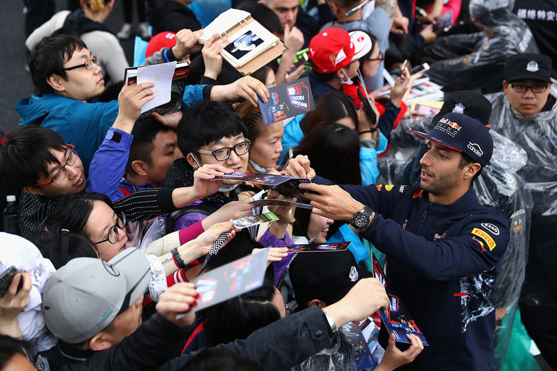 Daniel Ricciardo, Red Bull Racing with fans