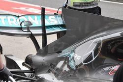 Detalle del T- Wing de Mercedes AMG F1 W08