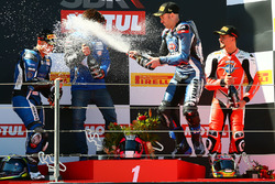 Podium: race winner Lucas Mahias, GRT Yamaha Official WorldSSP Team, second place Sheridan Morais, K