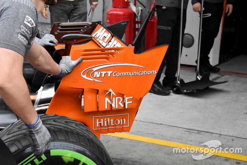 迈凯伦MCL32赛车尾翼细节图