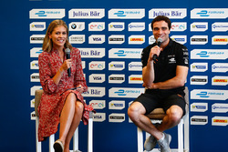 Nicki Shileds and Jérôme d'Ambrosio, Dragon Racing, in the press conference
