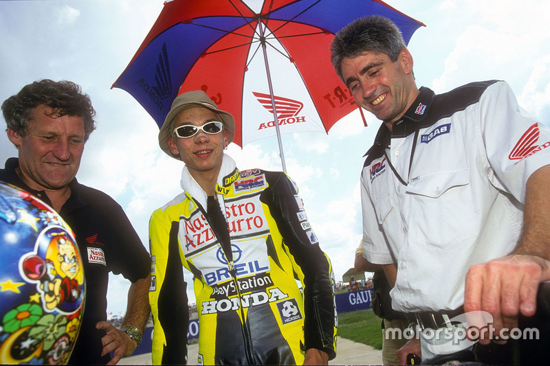 Valentino Rossi avec Jeremy Burgess et Mick Doohan