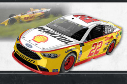 Throwback-Design: Joey Logano, Team Penske Ford