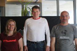 Martina Garovi, Beat Wyssen, Bruno Riesen, podium Corsa
