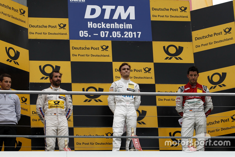 Podium: Race winner Lucas Auer, Mercedes-AMG Team HWA, Mercedes-AMG C63 DTM, second place Timo Glock