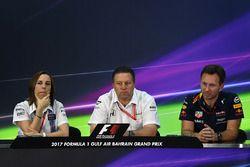 Claire Williams, Williams Deputy Team Principal, Zak Brown, McLaren Executive Director and Christian