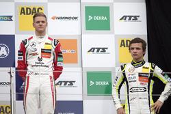 Rookie Podium: Mick Schumacher, Prema Powerteam, Dallara F317 - Mercedes-Benz and Lando Norris, Carl