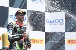Second place Tom Sykes, Kawasaki Racing