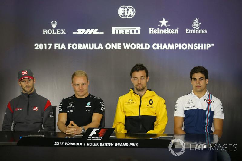 Romain Grosjean, Haas F1 F1 Team, Valtteri Bottas, Mercedes AMG F1, Jolyon Palmer, Renault Sport F1