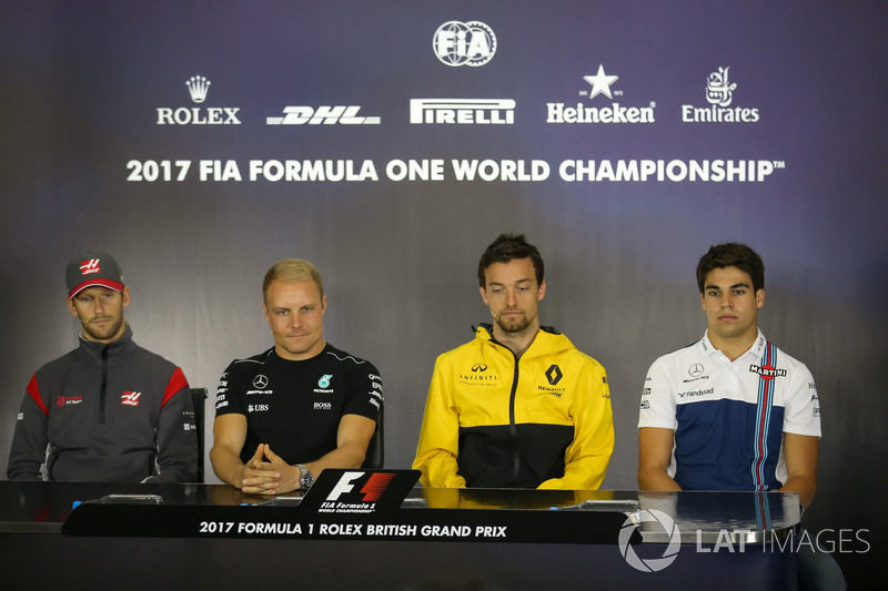 Ромен Грожан, Haas F1 F1 Team, Валттері Боттас, Mercedes AMG F1, Джоліон Палмер, Renault Sport F1 Team, Ленс Стролл, Williams