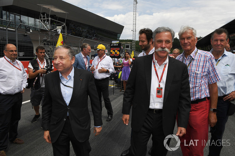 Jean Todt, FIA President, Chase Carey, Chief Executive Officer, Executive Chairman of the Formula On