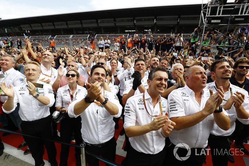 Siegerjubel: Mercedes AMG F1