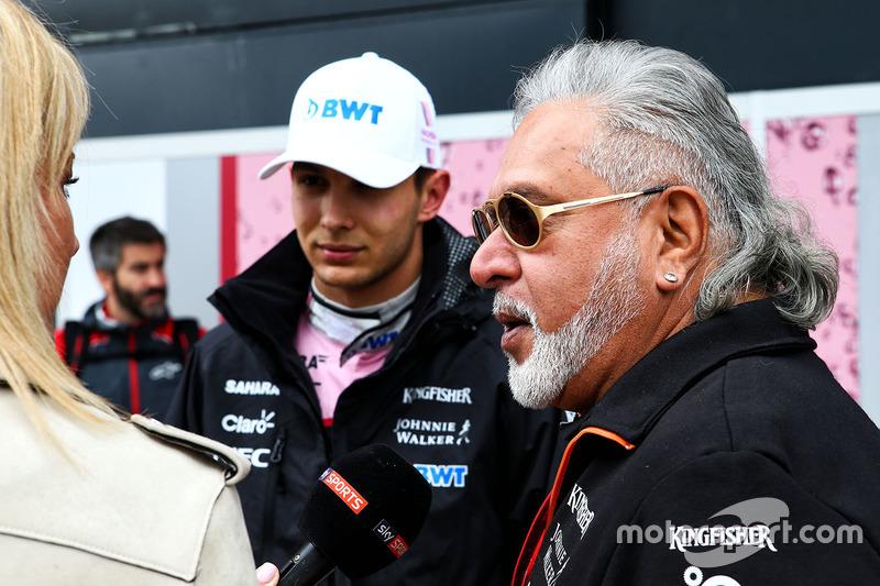 Естебан Окон, Sahara Force India, власник Sahara Force India Formula One Team Віджей Маллья