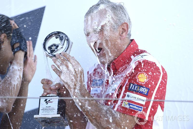 Podium: Davide Tardozzi, Ducati Team Team Principal
