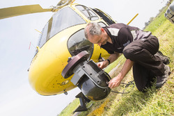 Helicopter camera maintenance
