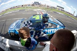 Jimmie Johnson, Hendrick Motorsports Chevrolet celebrates after winning