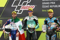 Podium: ganador, Joan Mir, Leopard Racing, segundo, Romano Fenati, Marinelli Rivacold Snipers, terce
