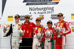 Podium: Race winner Marcus Armstrong, Prema Powerteam, second place Julian Hanses, US Racing, third place Enzo Fittipaldi, Prema Powerteam, bester Rookie Mick Wishofer, Lechner Racing