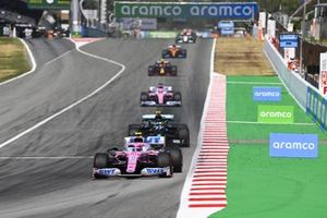 Lance Stroll, Racing Point RP20, Valtteri Bottas, Mercedes F1 W11 EQ Performance, Sergio Perez, Racing Point RP20