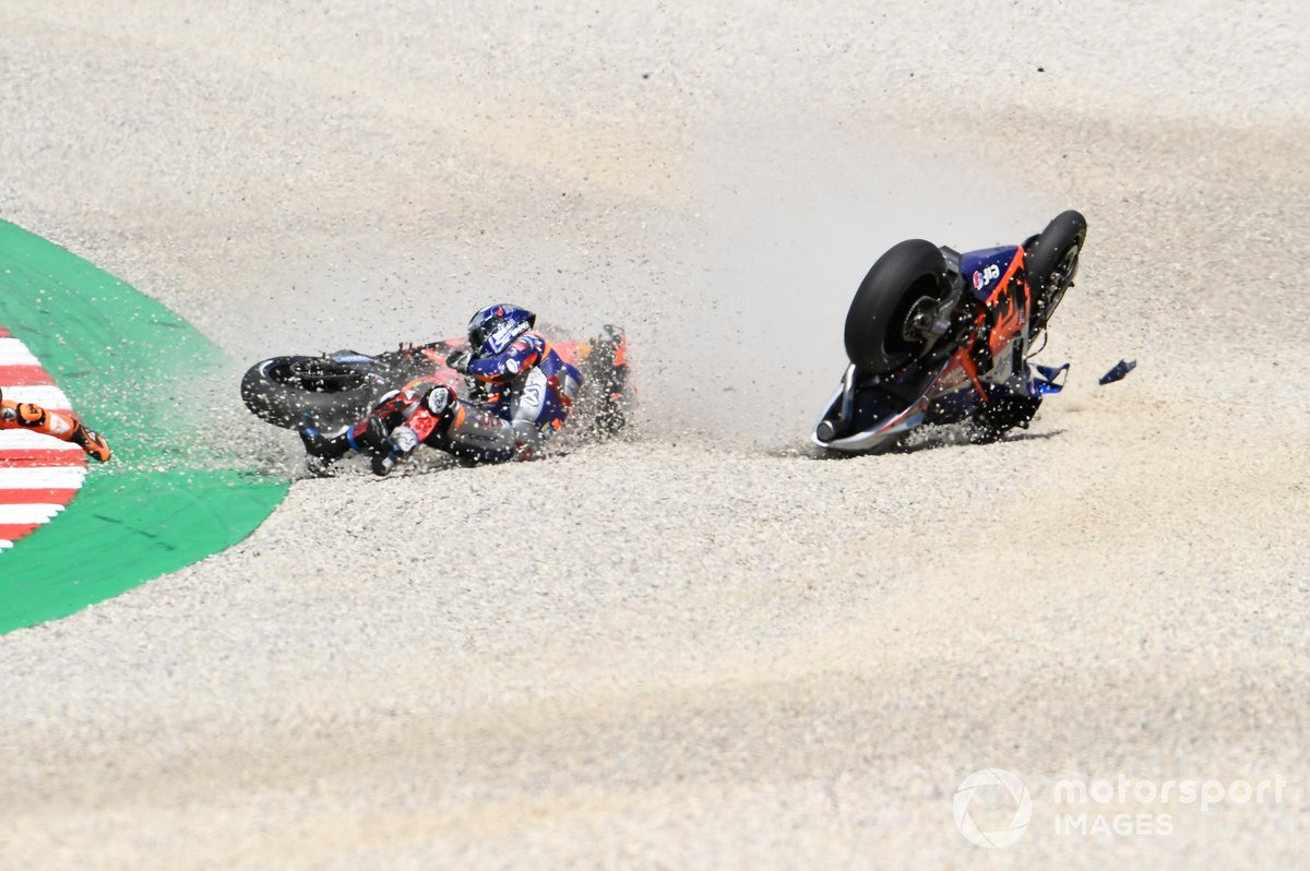 Accidente de Miguel Oliveira, Red Bull KTM Tech 3, Pol Espargaró, Red Bull KTM Factory Racing