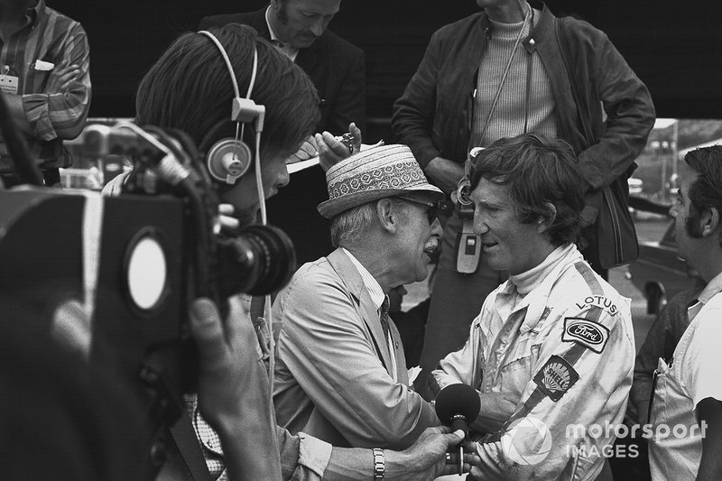 Jochen Rindt após sua última vitória, no GP da Alemanha de 1970.