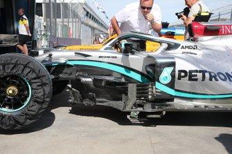 Mercedes F1 W11 sidepods detail