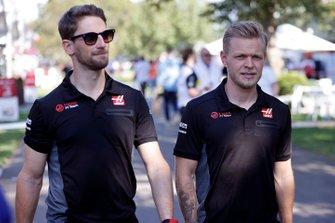 Romain Grosjean, Haas F1 Team and Kevin Magnussen, Haas F1
