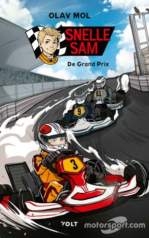 F1-kinderboek 'Snelle Sam' van Olav Mol