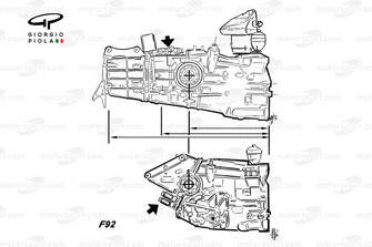 Ferrari F92A gearboxes comparison
