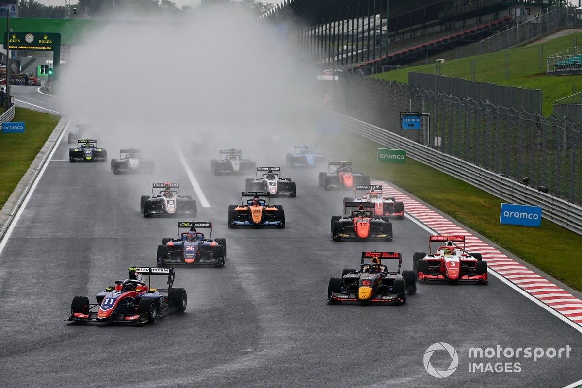 David Beckmann, Trident, Dennis Hauger, Hitech Grand Prix, Logan Sargeant, Prema Racing, Clement Novalak, Carlin y Alexander Peroni, Campos Racing