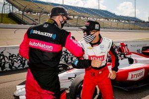 Jack Harvey, Meyer Shank Racing Honda, Tony Kanaan, A.J. Foyt Enterprises Chevrolet