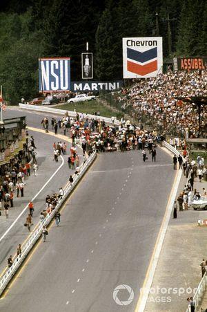 Startaufstellung zum GP Belgien 1970 in Spa